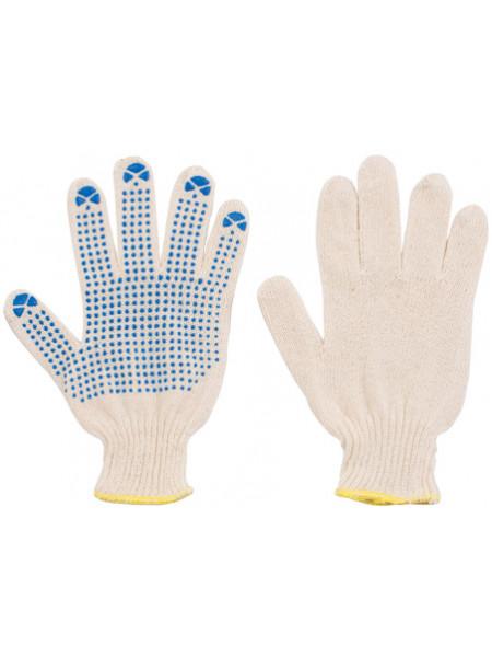 Перчатки вязаные (4 нити) х/б с ПВХ 10 класс вязки