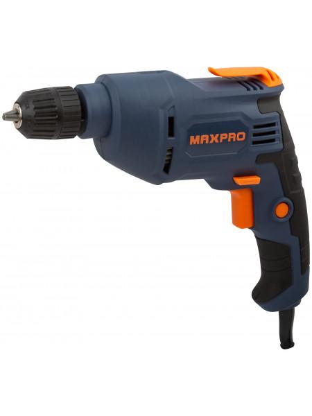 MAX-PRO Дрель Электрическая 450Вт 0-2700об/мин Быстрозажимной патрон 08-10мм 11 кг Резиновые вставки кор.