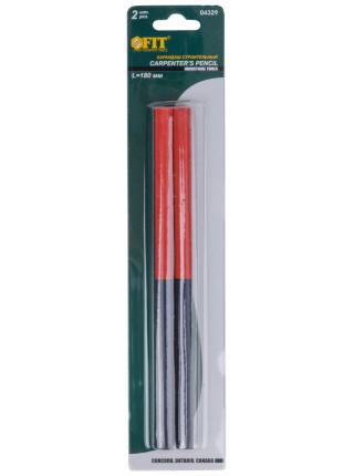 Карандаши строительные 180 мм 2-х цветные 2шт. в блистере