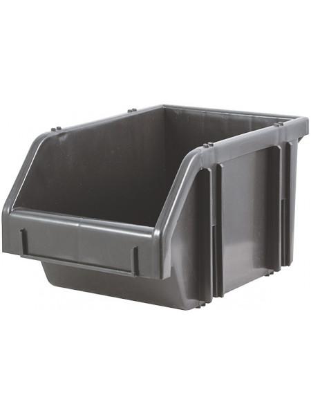 Лоток для крепежа пластиковый черный  75х110х165 мм