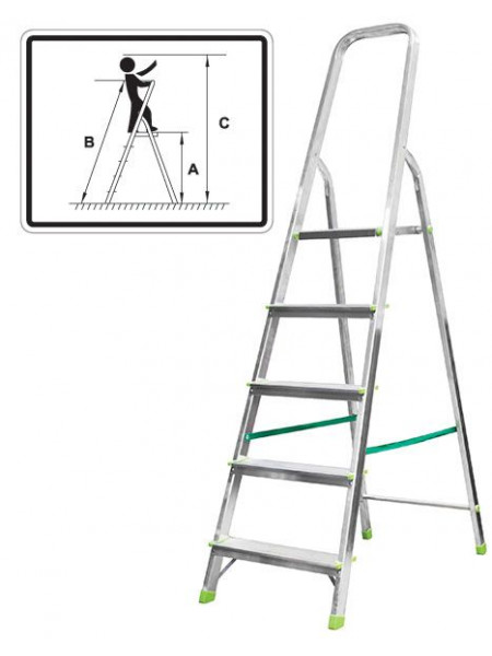Лестница-стремянка алюминиевая 3 ступени вес 33 кг