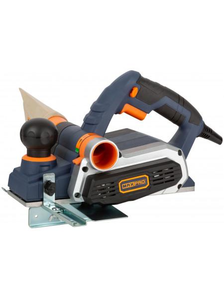 MAX-PRO Рубанок Электрический 900Вт 16000об/мин 82мм Рез 0-3мм Паз 0-16мм 32кг защ. пятка Резиновые вставки Пылесборник Дополнительные ремен