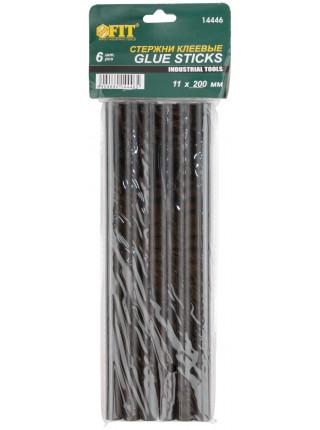 Стержни клеевые черные д.11 мм х 200 мм 6 шт.