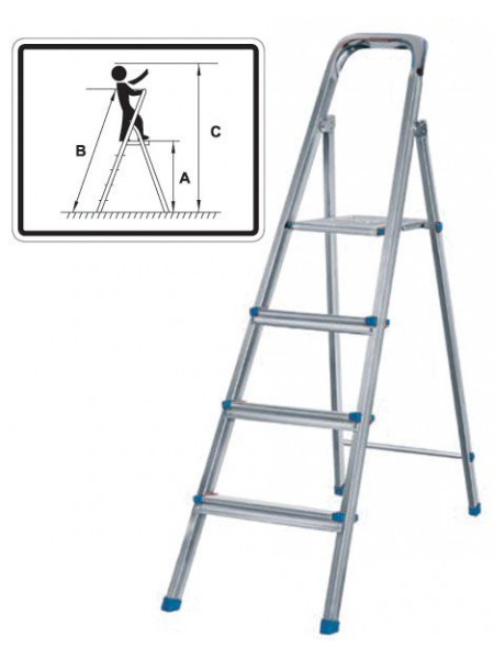 Лестница-стремянка стальная 3 ступени вес 37 кг