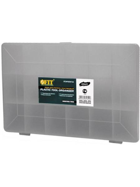 """Ящик для крепежа (органайзер) прозрачный 10"""" (275 х 185 х 42 см)"""