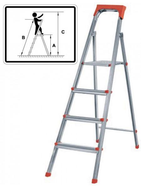 Лестница-стремянка стальная 3 ступени вес 48 кг