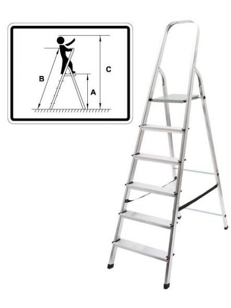 Лестница-стремянка алюминиевая 3 ступени вес 26 кг