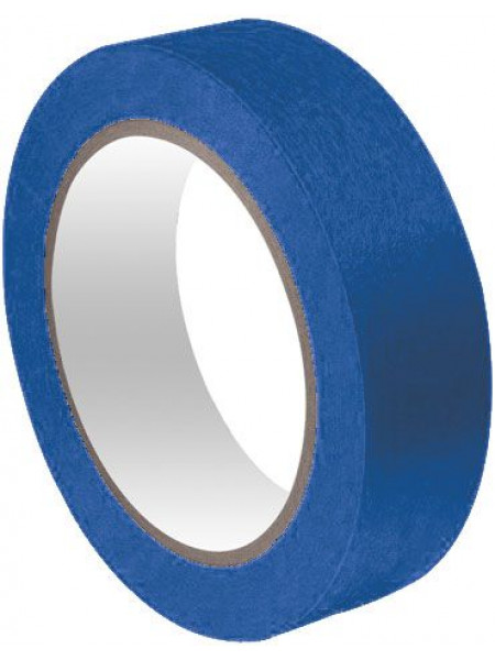 Лента малярная бумажная синяя термостойкость до 100°C УФ-стойкость до 14 дней 24 мм х 25 м