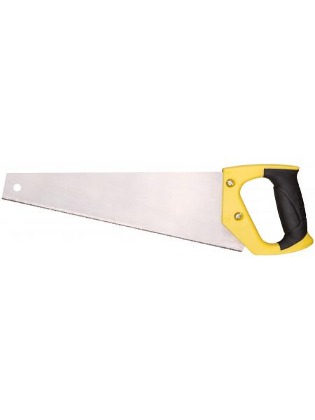 Ножовка по ламинату мелкий каленый зуб 12 ТPI (шаг 2 мм) заточка пласт.прорезиненная ручка 300 мм
