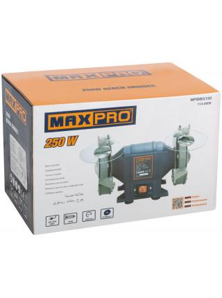 MAX-PRO Станок Точильный 250Вт 2950/2950об/мин 1: 150/20/127мм 2: 150/20/127мм 655кг Индукционный Мотор кор.