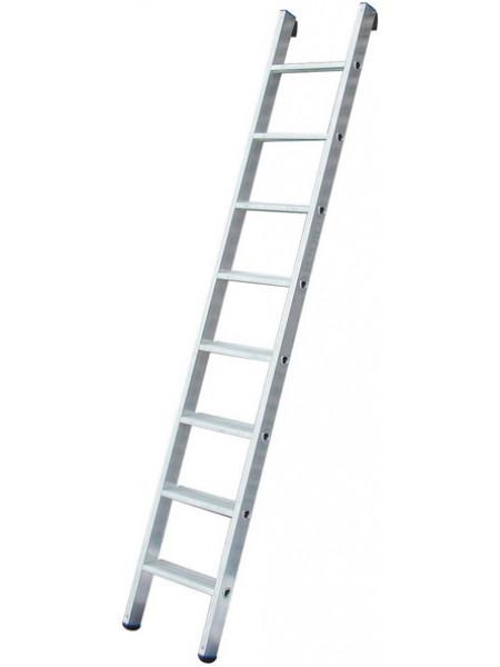 Лестница приставная алюминиевая 8 ступеней Н=223 см вес 29 кг