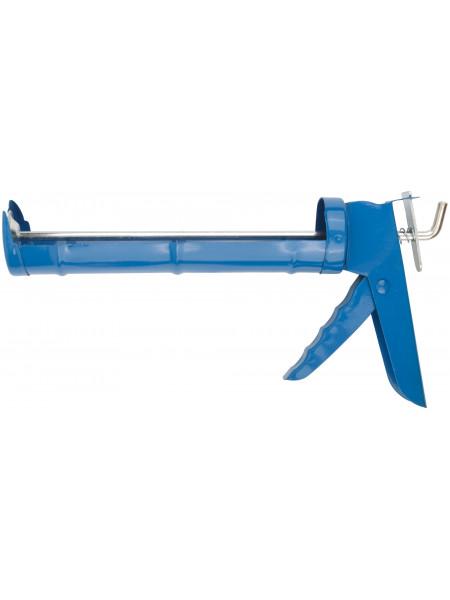 Пистолет для герметика 225 мм полукорпусной гладкий шток