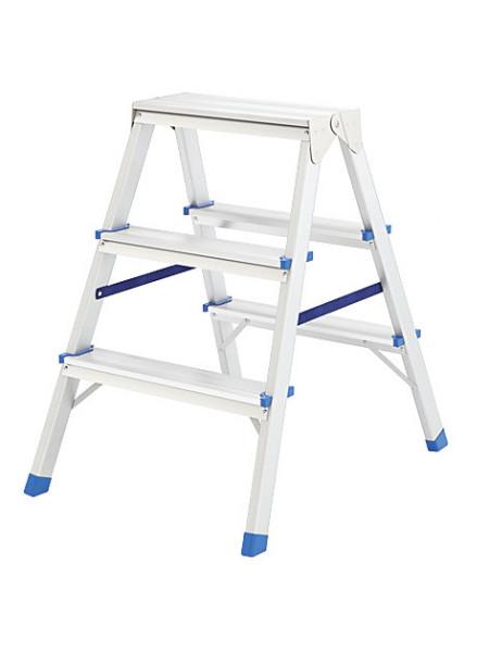 Лестница-стремянка алюминиевая двусторонняя 2 ступени Н=43 см вес 19 кг