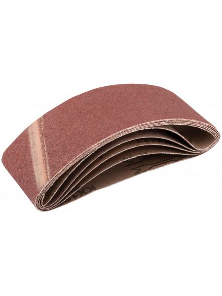 Ремни шлифовальные (бесконечная лента) водостойкие на тканевой основе 5шт. 75х457 мм  Р 60