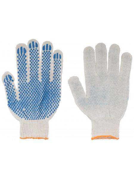 Перчатки вязаные (3 нити) х/б с ПВХ 10 класс вязки