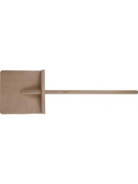 """Лопата для уборки снега """"мини"""" фанерная деревянный черенок 250х250x770 мм"""