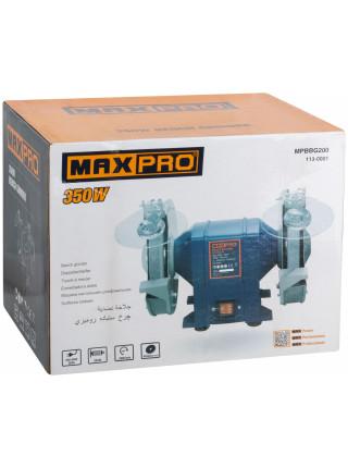 MAX-PRO Станок Точильный 350Вт 2950/2950об/мин 1: 200/20/16мм 2: 200/20/16мм 975кг Индукционный Мотор кор.
